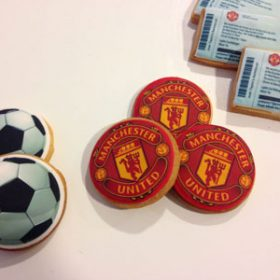 Manchester United biscuits