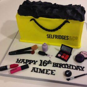 Edible print shopaholic cake