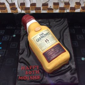 Edible print The Glenlivet birthday cake