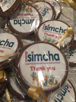 edible thank you print disk on chocolate lollipop