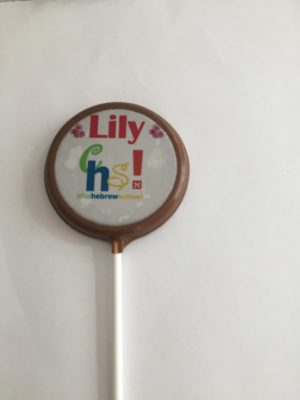 2 inch personal chocolate lollipop