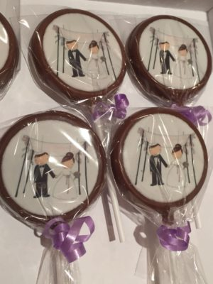 edible print incing disk chocolate lolly