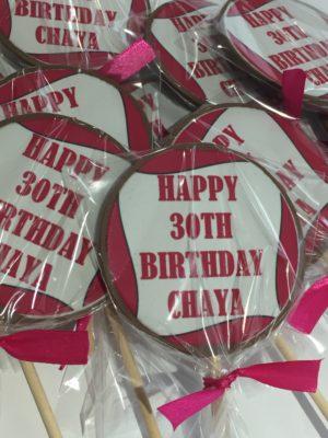 personalised happy birthday chocolate lollipop