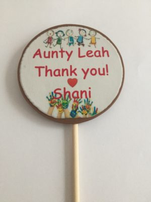 personalised thank you chocolate lollipop