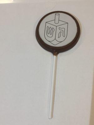 doodle chocolate lollipop
