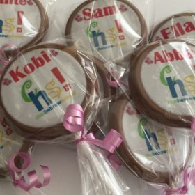 personalise chocolate lollipop 2 inch