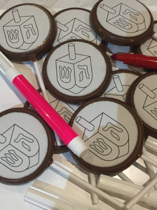 colour in your chocolate lolly with edible markers