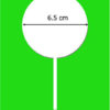 6.5 cm chocolate lollipop