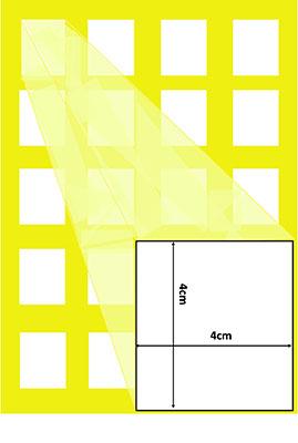 4 x 4cm chocolate squares