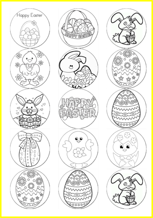 colour in easter pictures