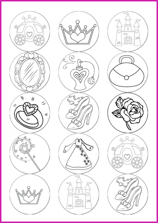 colour in princess pictures