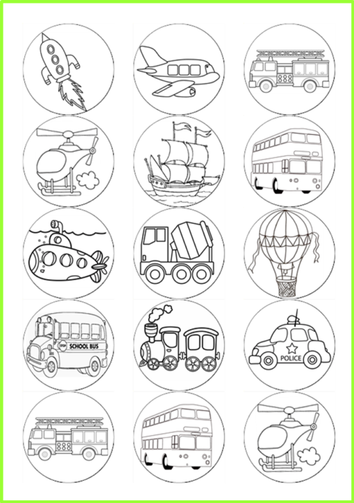 colour in transport pictures