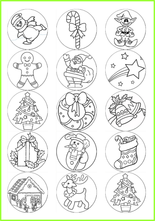 chiristmas colour in pictures